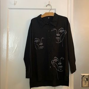 Marble clothing vintage French muse button up